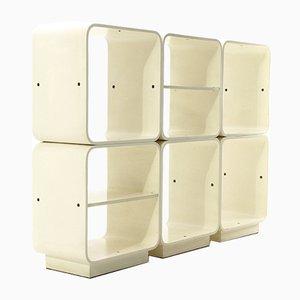 Conjunto de pared modular lacado de Fiarm, años 60