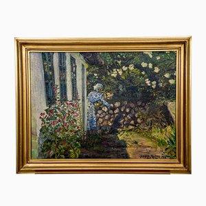 Arbeit im Garten Gemälde von Harald Moltke, 1939
