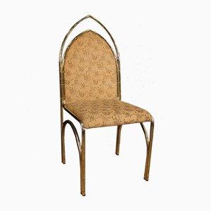 Italienische Esszimmerstühle aus Vergoldetem Metall, 1970er, 6er Set