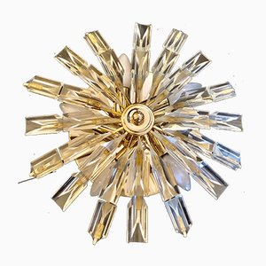 Gold Glass Sun Sconce from Venini, 1980s