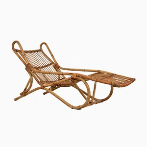 Vintage Rattan Deck Chair, 1970s