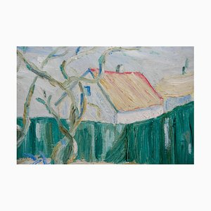 Haus hinter dem Zaun Gemälde, 1930er