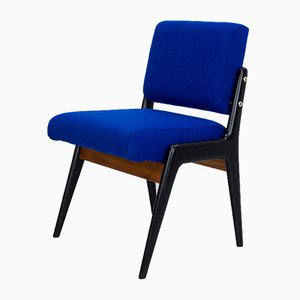 Sedia da scrivania blu di Robin Day per Hille, anni '40
