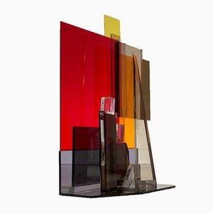 Französische Plexiglas-Skulptur aus Plexiglas von Pierre Laparra, 1970er