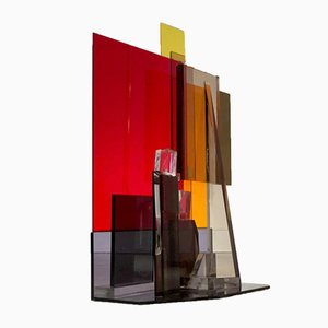 Vintage French Plexiglass Lucite Sculpture by Pierre Laparra, 1970s