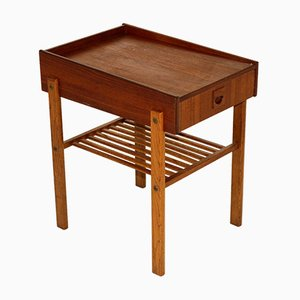 Swedish Teak and Oak Nightstand, 1960s