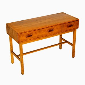 Swedish Teak and Oak Console Table, 1960s