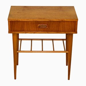 Swedish Teak and Beech Nightstand, 1960s