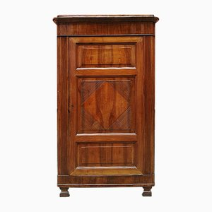 Antique Italian Walnut Corner Cabinet, 1800s