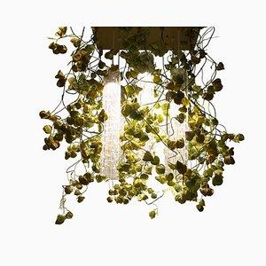 Flower Power Deckenlampe mit Murano Glas und Physalis Blumen von Vgnewtrend
