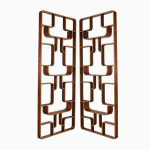 Mid-Century Room Dividers by Ludvik Volak for Drevopodnik Holesov, 1950s, Set of 2