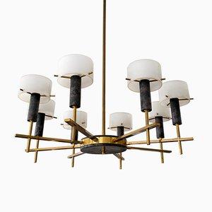 Lampada da soffitto Mid-Century di Angelo Brotto per Esperia, Italia, anni '50