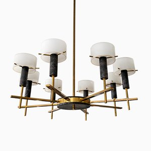 Mid-Century Italian Ceiling Lamp by Angelo Brotto for Esperia, 1950s