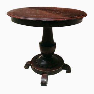 Table de Salle à Manger Antique Ronde en Noyer, Italie, 1800s