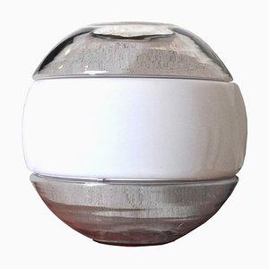 Murano Glas Tischlampe von Mazzega, 1960er
