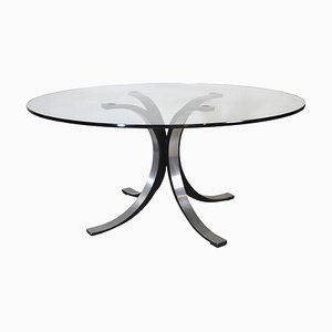Round Model T69 Dining Table by Osvaldo Borsani & Eugenio Gerli for Tecno, 1970s