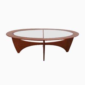 Tavolino da caffè ovale Astro in teak con ripiano in vetro di Victor Wilkins per G-Plan, anni '60