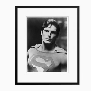 Christopher Reeve Superman in Black Frame from Galerie Prints