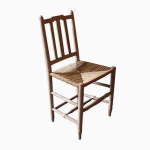 Chaise d'Appoint Antique en Osier, Allemagne