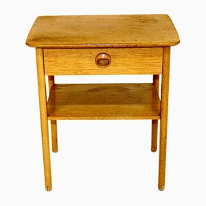 Swedish Oak Nightstand, 1960s