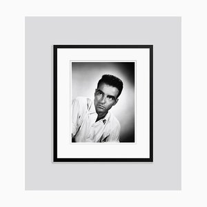 Montgomery Clift Portrait 1954 Archival Pigment Print Framed in Black by Everett Collection