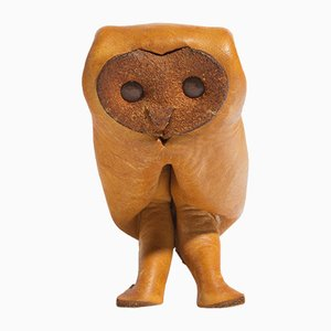 Mid-Century Leather Owl from Deru