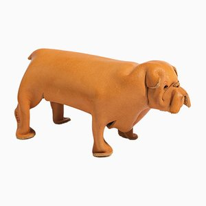 Mid-Century Leather Dog from Deru