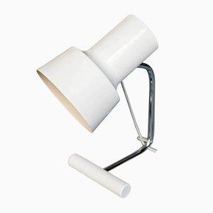 Lámpara de mesa Mid-Century blanca de Josef Hurka para Napako