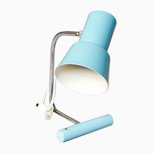 Lampe de Bureau Bleue Mid-Century par Josef Hurka pour Napako