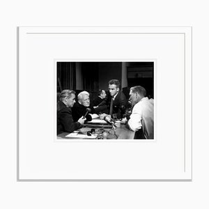 The Set of Judgement At Nuremberg 1961 Archival Pigment Print Framed in White by Everett Collection