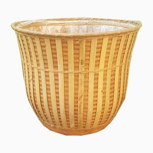 Vintage Wicker Cache Pot, 1970s