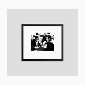 Montgomery Clift & Maximilian Schell in Rehearsals 1961 Archival Pigment Print Framed in Black by Everett Collection