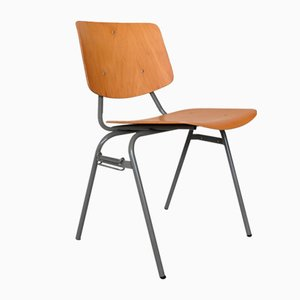 Dutch Birch Model 305 Stacking Chair by Kho Liang Ie & Wim Crouwel for CAR Katwijk, 1950s