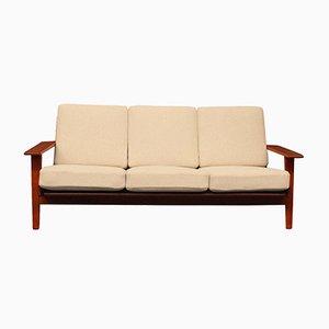 GE290 Teakholz Sofa von Hans J. Wegner für Getama, 1960er