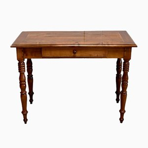 Small Antique Louis Philippe Style Solid Birch Desk