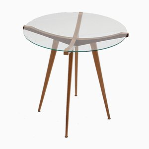 Table Basse Mid-Century en Noyer par Augusto Romano, Italie, 1950s