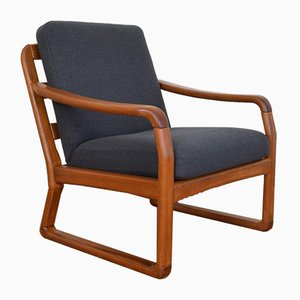 Mid-Century Danish Teak Lounge Chair from Dyrlund, 1970s.