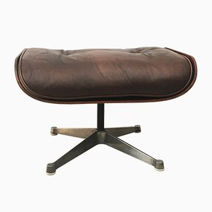 Leather Ottoman by Charles and Ray Eames for Herman Miller, 1960s