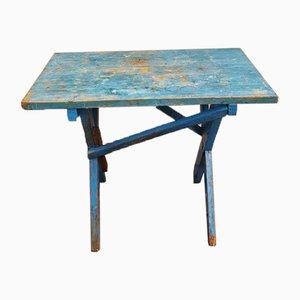 Mesa de trabajo azul, años 40