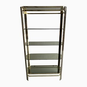 Vintage Hollywood Regency Style Brass Display Shelf, 1970s