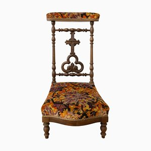 19th Century French Napoleon III Prayer Chair in Mahogany