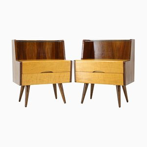 Bedside Tables, Czechoslovakia 1960s, Set of 2
