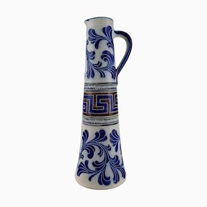 Large German Beer Mug in Hand-Painted Ceramic from Zoller