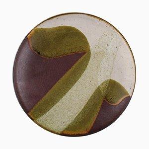 Piatto in ceramica smaltata, 1985