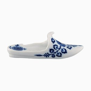 Antique German Miniature Slipper in Hand-Painted Porcelain from Meissen