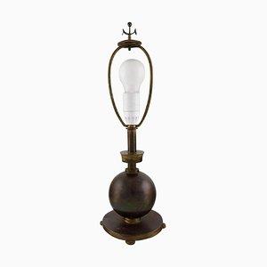 Scandinavian Art Deco Bronze Table Lamp, 1930s