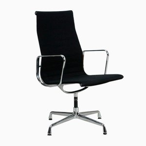 Chaise de Bureau EA 112 en Aluminium Noir de Vitra, 1980s