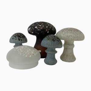 Mushrooms by Monica Backstrom for Kosta Boda, 1970s, Set of 5