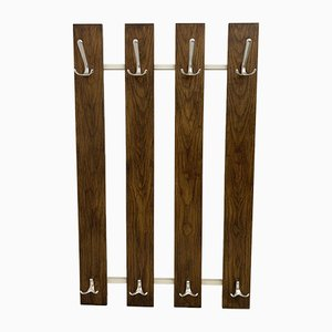Mid-Century Slatted Wall Coat Rack, 1960s