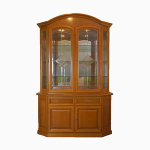 Wooden Vitrine with Floral Inlaid Work